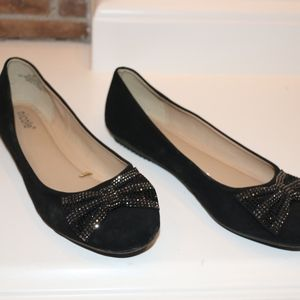 Nicole Black Flats with Bow